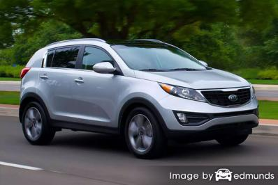 Insurance rates Kia Sportage in Charlotte