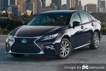 Insurance rates Lexus ES 300h in Charlotte