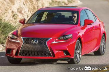 Insurance rates Lexus IS 200t in Charlotte